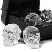 3D Skull Ice Cube Maker For Drink Bones Ball Tray Cake Candy Mold Tools Kitchen Gadgets Silicone Whiskey Ice Ball Mold round sphere ice mold silicone ice cube ball maker silicone ice cube tray pp whisky drink beverage kitchen tools