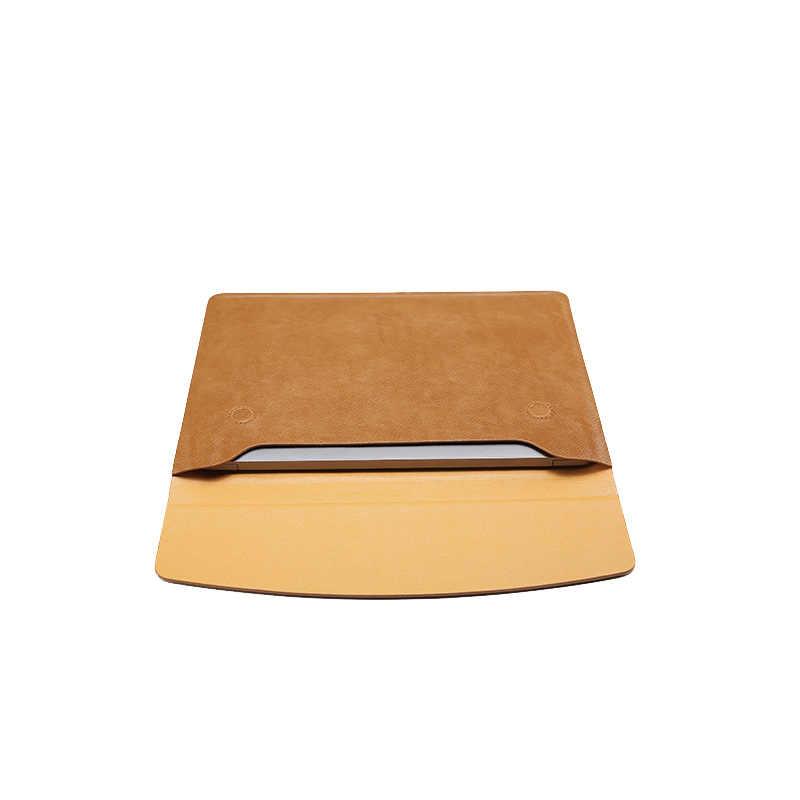 Moda nowy 13.3 calowy PU skórzany Laptop torba na macbooka Pro/Air 15.4 calowy pokrowiec na laptopa dla Apple MacBook, Xiaomi PU torba na notebooka