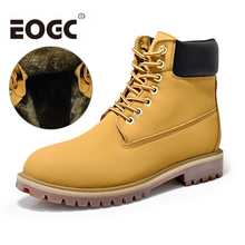 Top Quality Men Snow Boots Genuine Leather men shoes Size 35-45 Keep warm women Winter Ankle