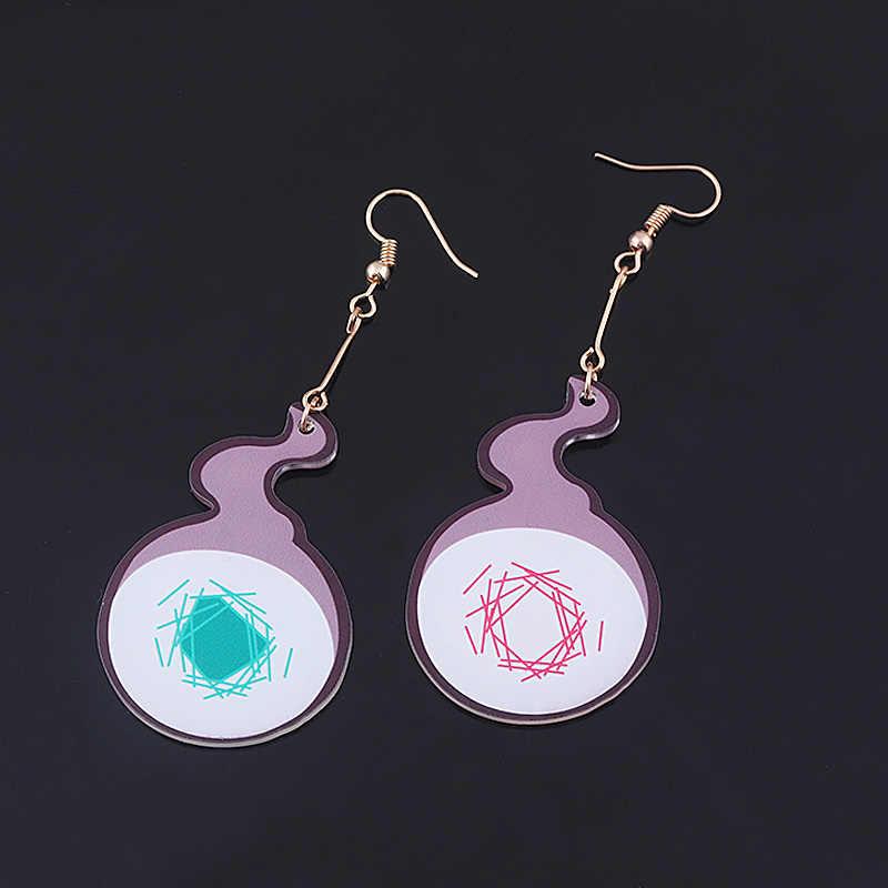 Аниме унитаз Hanako-kun серьги-клипсы акриловые Косплей Yugi Amane фиолетовые серьги-гвоздики для фанатов ювелирные изделия для вечерние Ринок