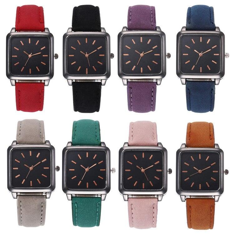 Fashion Belt Series Bracelet Watch Exquisite Multicolor Square Watch Joker Lady Wrist Watch