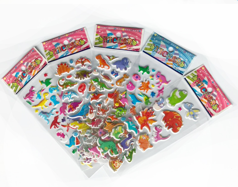 100 sheets Sticker Kids Cute 3D Cartoon Stickers Mixed School Teacher Reward Children Early Learning Toys for Children GYH