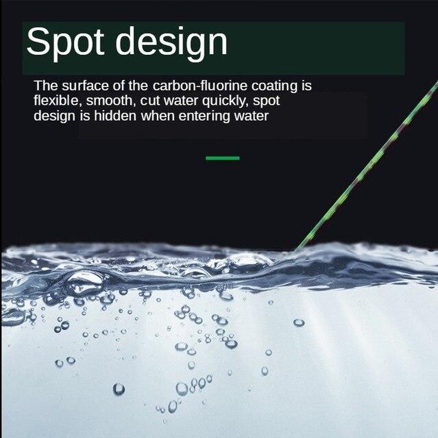 Nylonowa żyłka wędkarska 500 M główna linia Spot kamuflaż niewidoczny Strand czarny Pit kamuflaż żyłka Monofilament Fluorocarbon