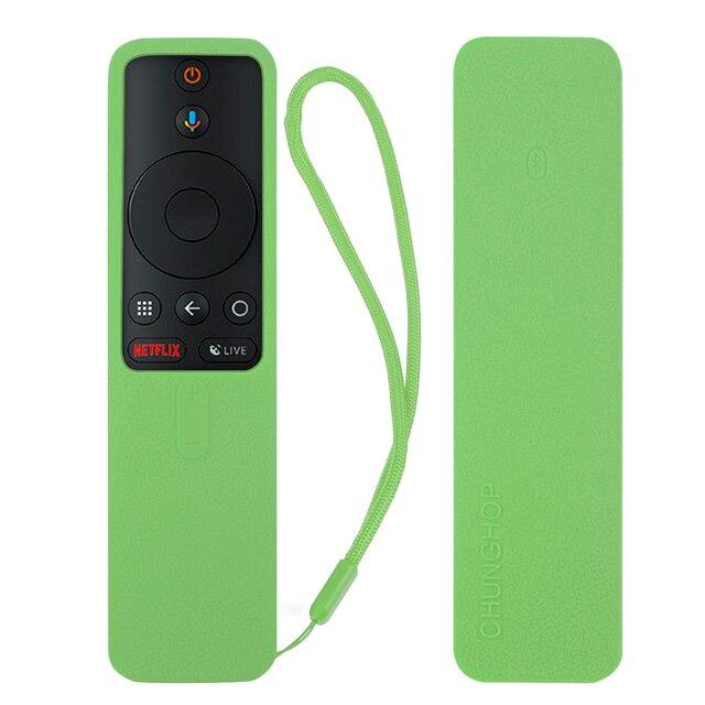 Covers for Xiaomi Mi TV Box s Bluetooth Wifi Smart Remote Control Case Silicone Shockproof Protective Ski-friendly 5