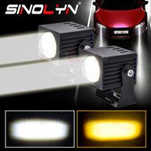 Sinolyn – lentilles de projecteurs à faisceau haut pour phares, double couleur, antibrouillard Matrix 5000K/3000K, étanche, rénovation, accessoires de voiture