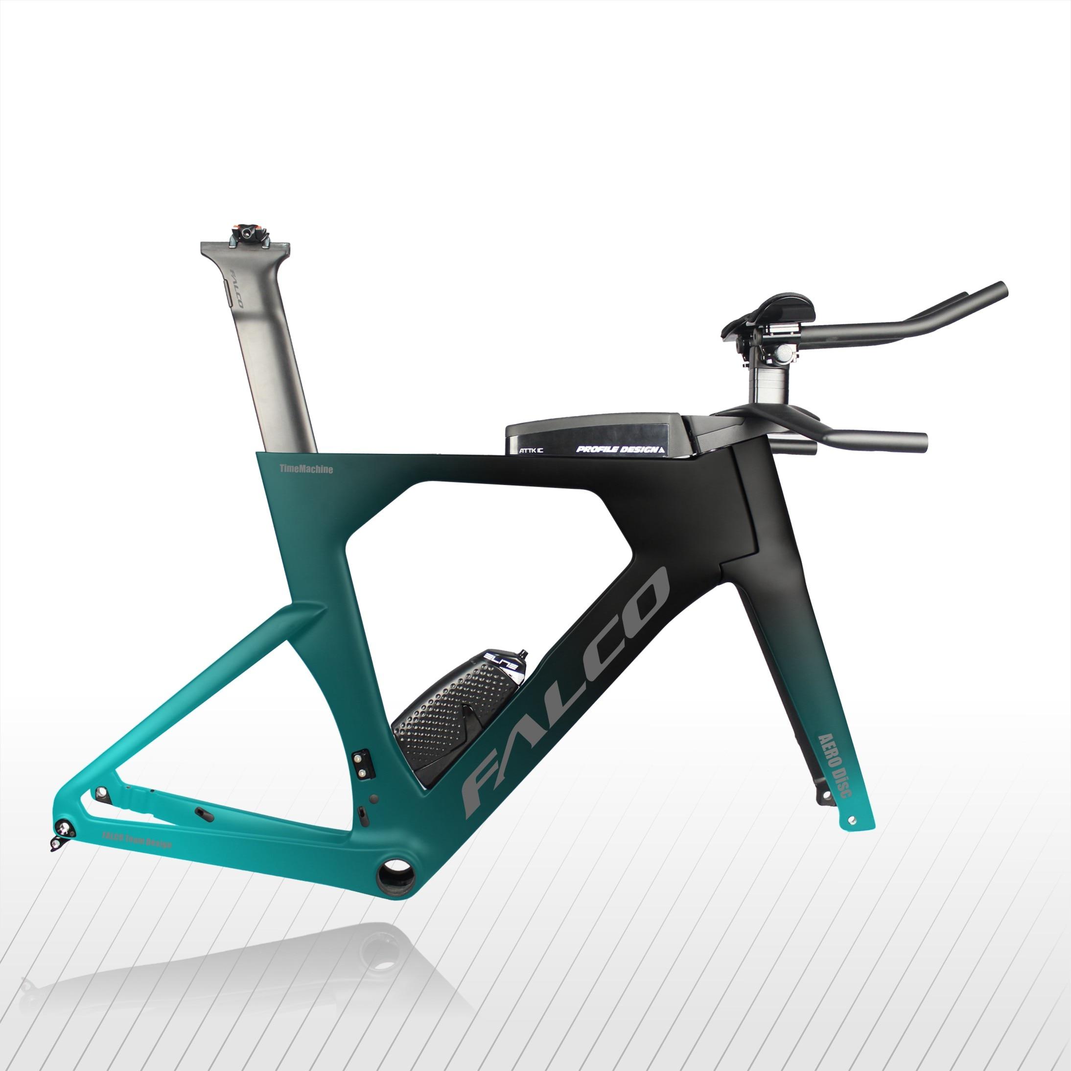 FALCO TT Frame Time Trial Triathlon Bicycle Bike Part Carbon Custom Painting Frame With Handlebar Seatpost TT912