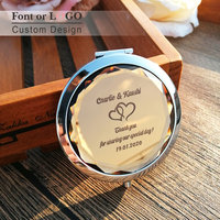Foldable Crystal Mirror Bridal Compact Beauty Purse Shower Party Favour Personalized Logo Wedding Gift Favor for Girls Ladies