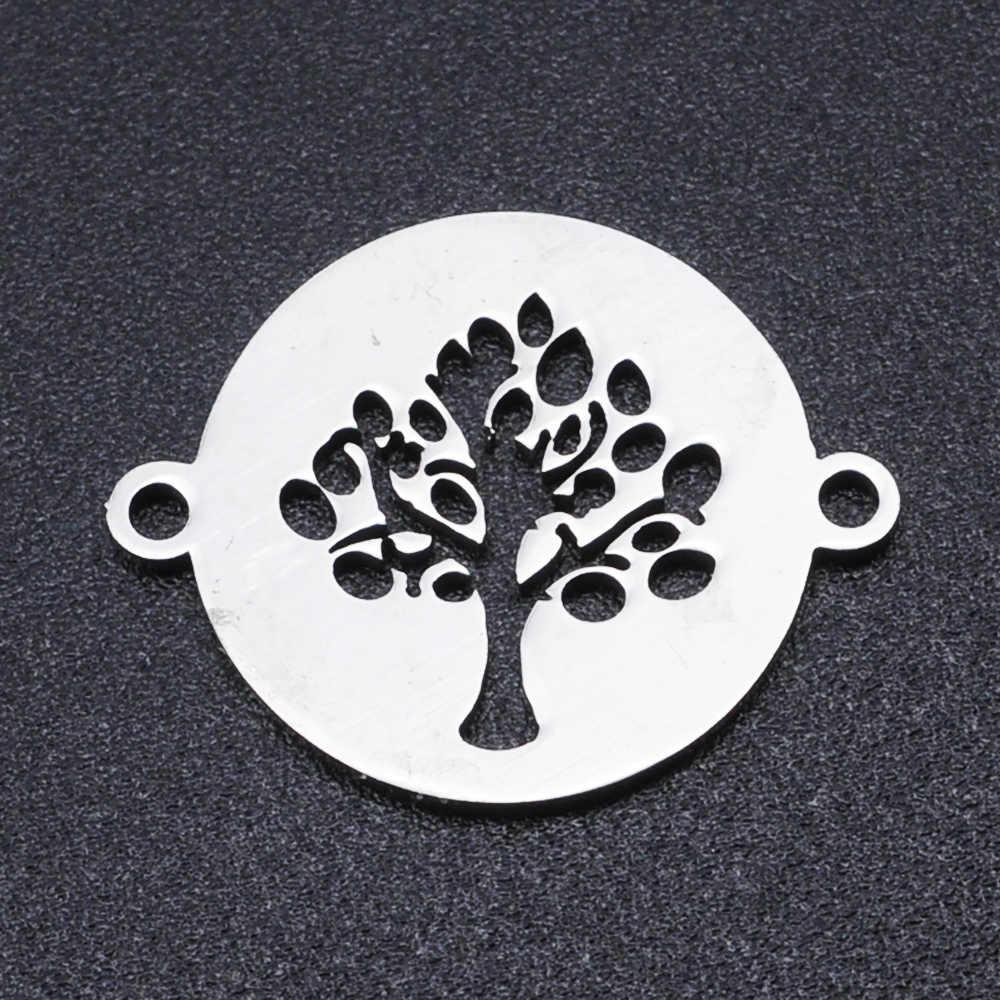 5 ชิ้น/ล็อต 100% สแตนเลสสตีลต้นไม้Charmsกำไลขายส่งจี้ไม่เคยเสื่อมสภาพคุณภาพสูง