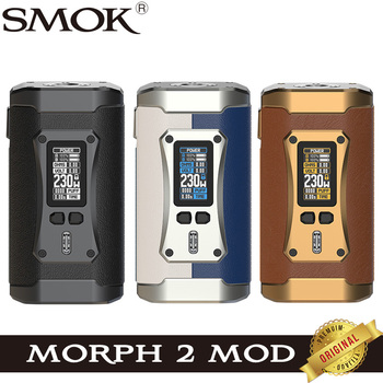 SMOK – Mod Morph 2 pour Cigarette électronique 230W, Support de vapoteur TC, atomiseur à réservoir TFV18 à filetage 510