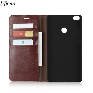 Image 4 - Luxury Vintage Genuine Leather For Xiaomi MI Max 2 Case Crazy Horse Skin Flip Wallet Cover Case For Xiaomi MI Max 2 Accessories