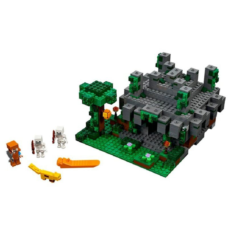 The Jungle Temple Building Block With Steve Action Figures Compatible LegoINGlys MinecraftINGlys Sets Toys For Children 21132 1