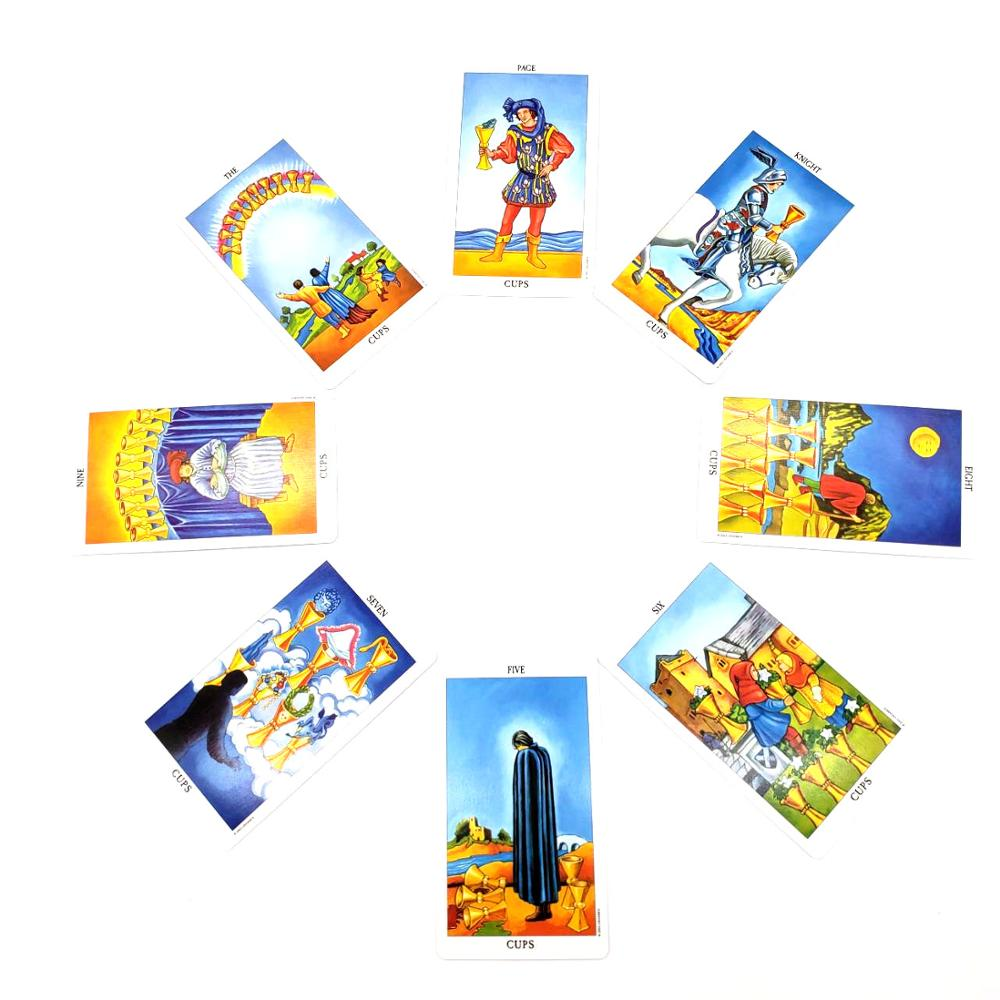 English version Tarot Card Divination Fate Tarot Deck Board Game Cards Rider Waite Tarot
