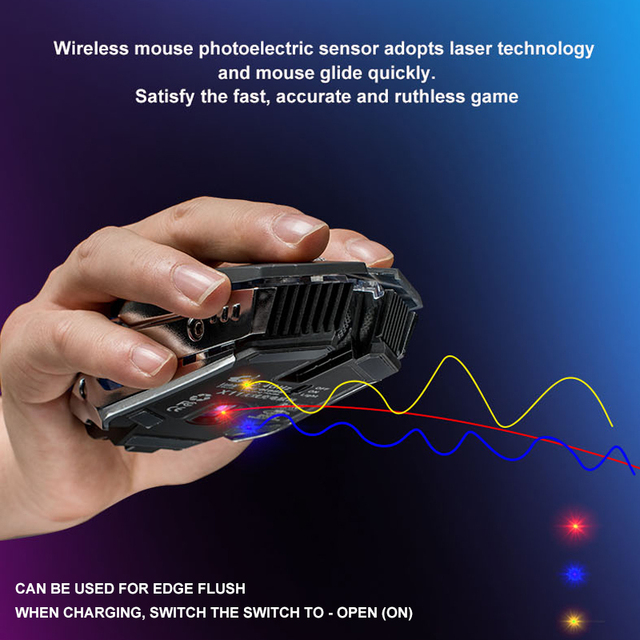 X11 Wireless Gaming Mouse Rechargeable 2.4G Wireless Silent LED USB Optical Ergonomic Gaming Mice Surfing Mouse For Laptop/PC
