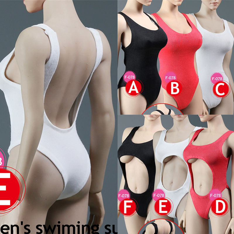 SUPERMCToys F-078 1/6 Scale <font><b>Female</b></font> <font><b>Sexy</b></font> Bikini Set One-piece Swimsuit for 12 Inches <font><b>Action</b></font> <font><b>Figures</b></font> image