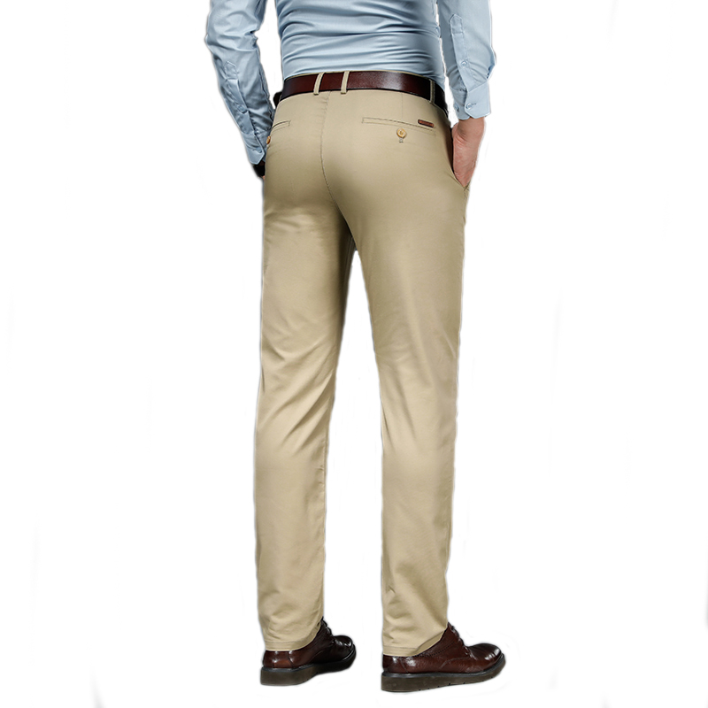 Spring Summer 2021 New Men Casual Pants Thin Straight Solid Colors Male Daily Smart Dress Business Trousers