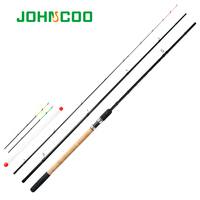 JOHNCOO Feather 40T Carbon Light Weight Feeder Fishing Rod 3.6m 3.9m 3 Sections Feeder with 3 Different Tips Test 90g 120g 150g