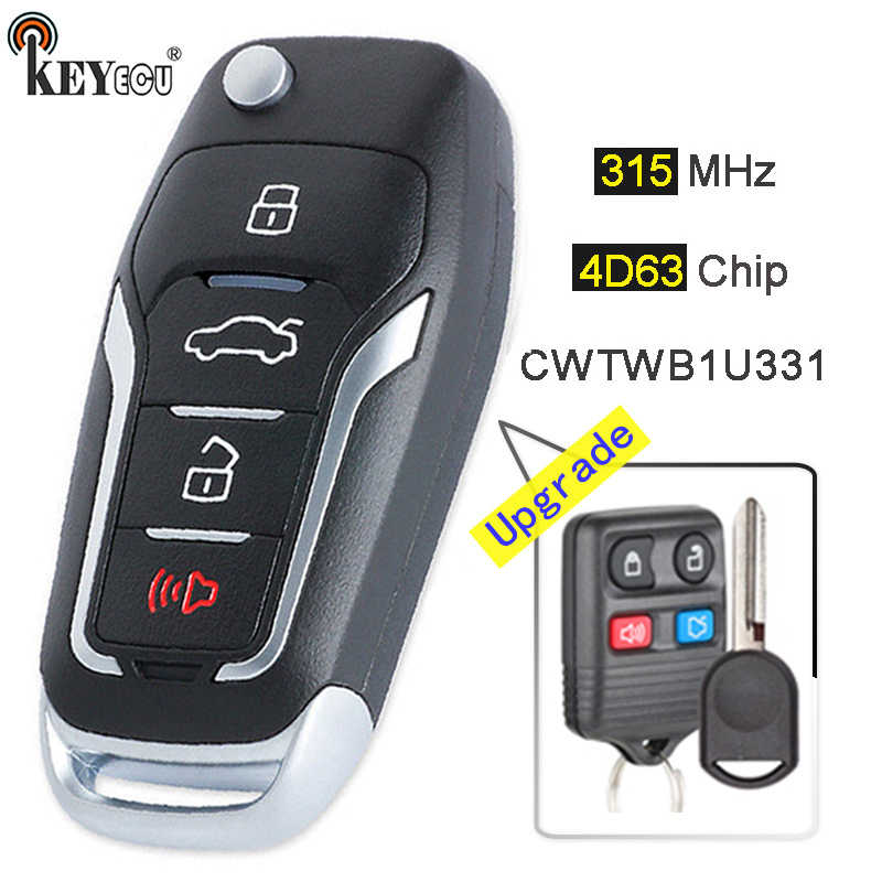 2 Pack 3 Buttons 315Mhz CWTWB1U345 Fob Car Remote Key For Ford Focus Fusion Escape Expedition F-Series F150 F250 F350