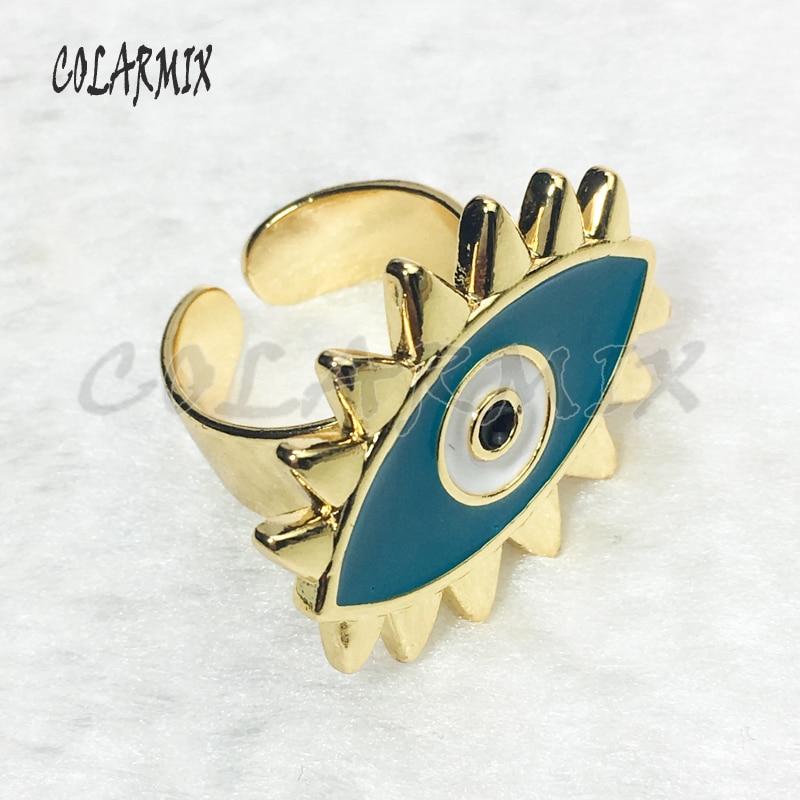 10pcs Mix design rings Enamel rings simple cuff rings devil eye accessories for women new style jewels eye rings for women 5922