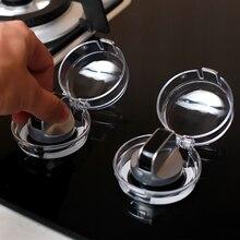 Прозрачная кухонная плита газовый чехол для ручек протектор Газа Детские замки безопасности 2 шт