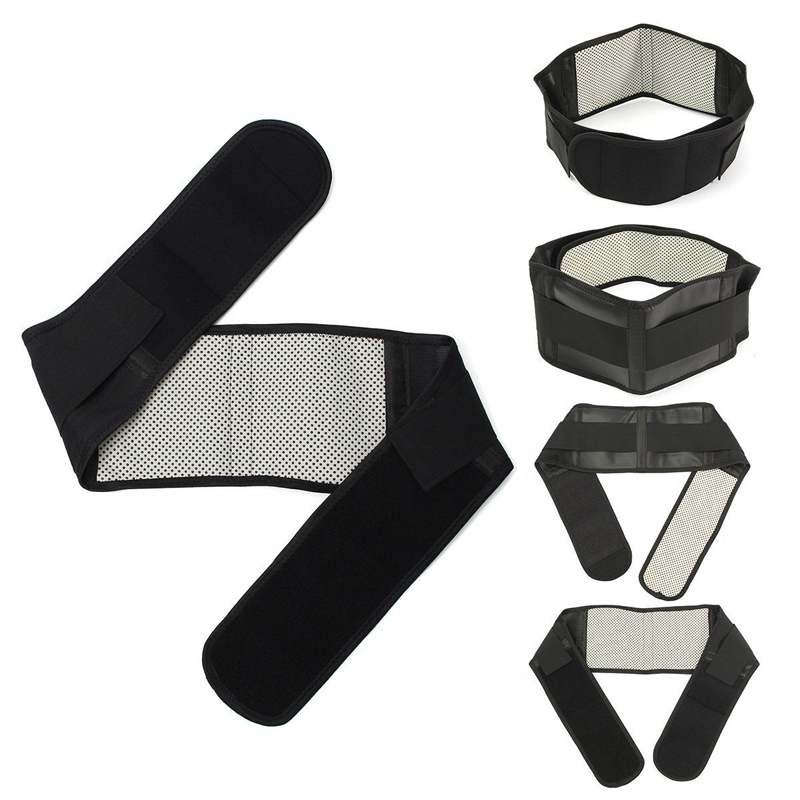 Unisex Adjustable Waist Tourmaline Waist Brace Supports Magnetic Therapy Self Heating Bandage Back Belt Lumbar Pain Relief XL L