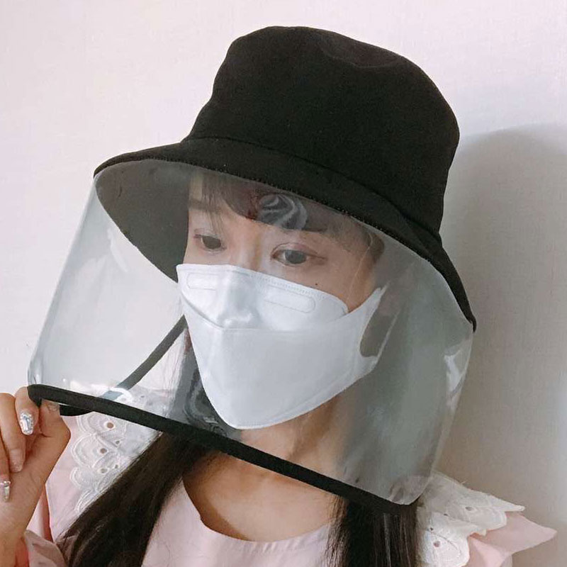 2020 Protective Caps Women Men Bucket Hats Anti-fog/saliva Fisherman's Hat Unisex Outdoor Cap Sunhats Boonie Caps Hats Fast Ship