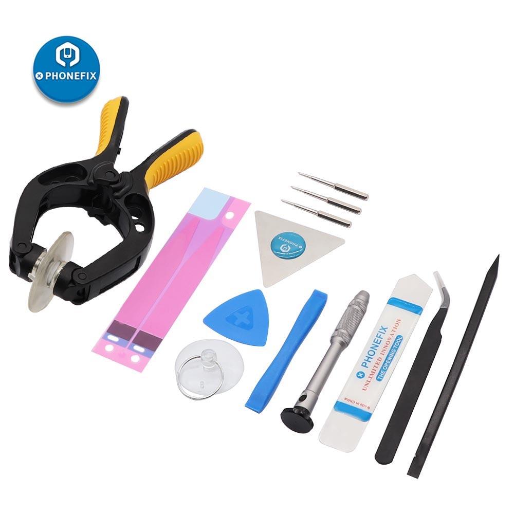 PHONEFIX 13 In 1 Screen Repair Kit For IPhone Repair Opening Tools Spudger Blade Suction Tools For Samsung Repair Opening Kit