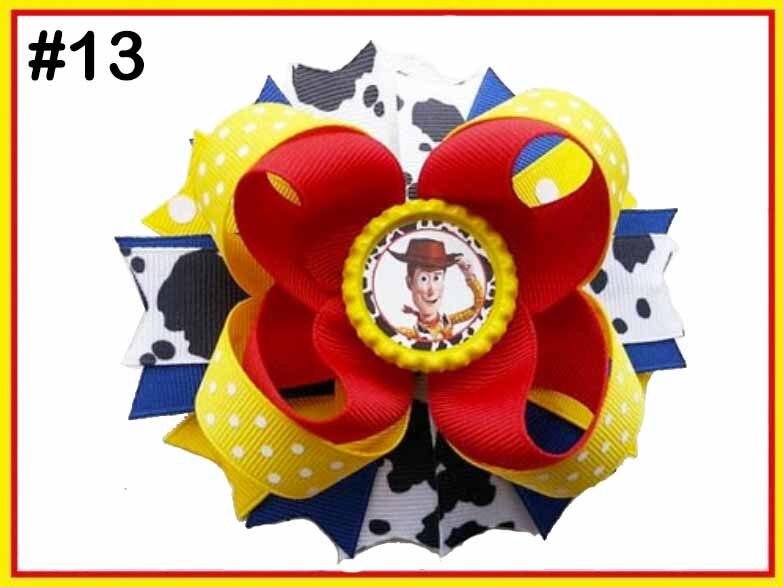 """5 шт 4,5-5,"""" История Вдохновленный персонаж W oo-dy Jess-ie B o Peep-Buzz& Al ien банты для волос - Цвет: 20190618013"""