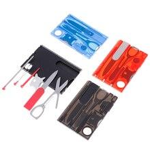 Fork-Sets Edc-Tools Pocket Tactical-Knife Credit-Card Purpose Multi Survival Outdoor