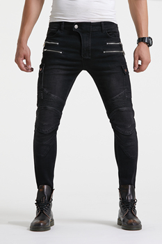 VOLERO UBP-019 Straight Casual Jeans Motorcycle Protector Pants Men's Moto Pants Racing Pants with detachable protector