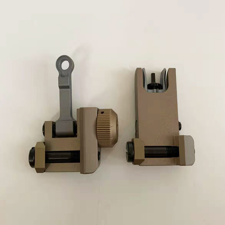 Uniontac Upgraded Version Kac 300 Style Rear And Front Iron Sight Set CNC Process