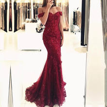 Off the Shoulder Mermaid Prom Dresses Sexy Sweetheart Sleeveless Appliques Formal Evening Party Vestidos De Fiesta Custom Made
