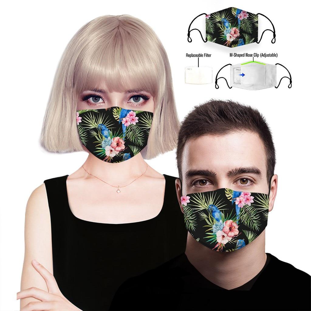 H9e830ab4f5f04db49978f9549f59018bG adult facemask flower print adjustable cotton maske mondkapje maska tapabocas dropshipping