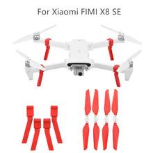Zestaw do lądowania statyw + składane śmigło część dla XIAOMI FIMI X8 SE zdalnie sterowany dron Quadcopter dzieci zabawki dla dzieci 2019 HOT G20 tanie tanio ONTO-MATO Z tworzywa sztucznego 365 days Silnik szczotki 7 4V 2500mAh Lipo Battery 240-300 Mins 4 kanałów 4 * 1 5V AA batteries (not included)