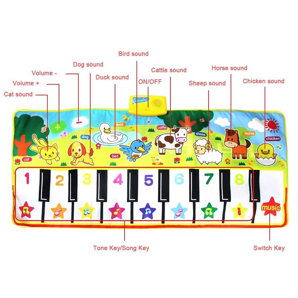 tapete de brinquedo musical para bebes tamanho 04