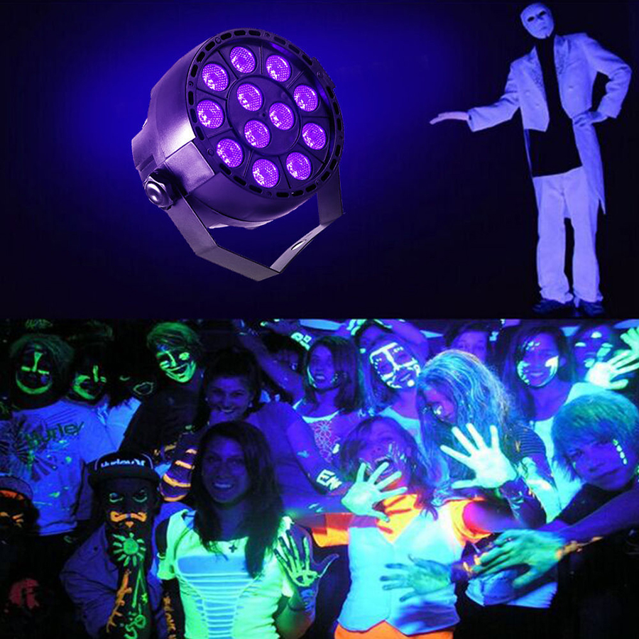 36W UV LED Stage Light   Master-slave  for Disco DJ Club  DMX512 Par Light Spotlight lamp Auto Sound Active