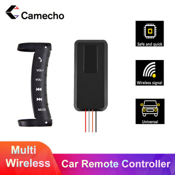 Camecho Car Radio Wireless Remote Control For DIN Car Multimedia Steering Wheel Remote Control Universal For Car DVD GPS Player image