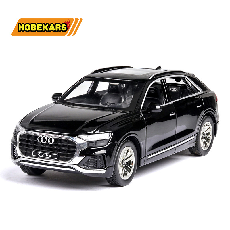 1/32 Diecast Model Car Q8 SUV Off-road Simulation Matel Cars Light Sound Alloy Toys For Kids Vehicles Gifts For Children Boy