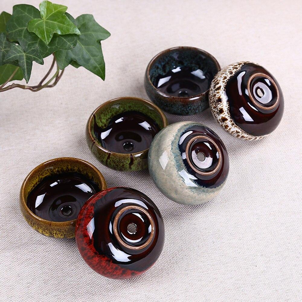 Ceramic Ice Crack Zisha Serial Succulent Plant Pot Cactus Bonsai Pot Flower Pots Container Planter Decoration for Office Garden