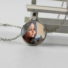 Personalized photo pendant necklace, your baby boy, mom, dad, grandma, family parent-child personalized photo is a gift jewelry(China)