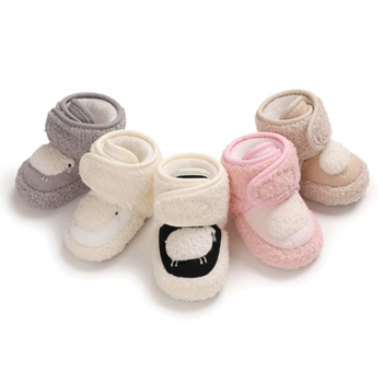 Newborn Baby Winter Warm First Walkers Cotton Baby Shoes Love Pattern Decoration Velvet Soft Sole Indoor Shoes For 0-18M цена 2017