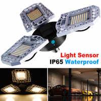 Bombilla LED E27 LED Deformable Luz de garaje impermeable AC100-277V 60W 80W 100W Bombilla Super brillante UFO lámpara para almacén