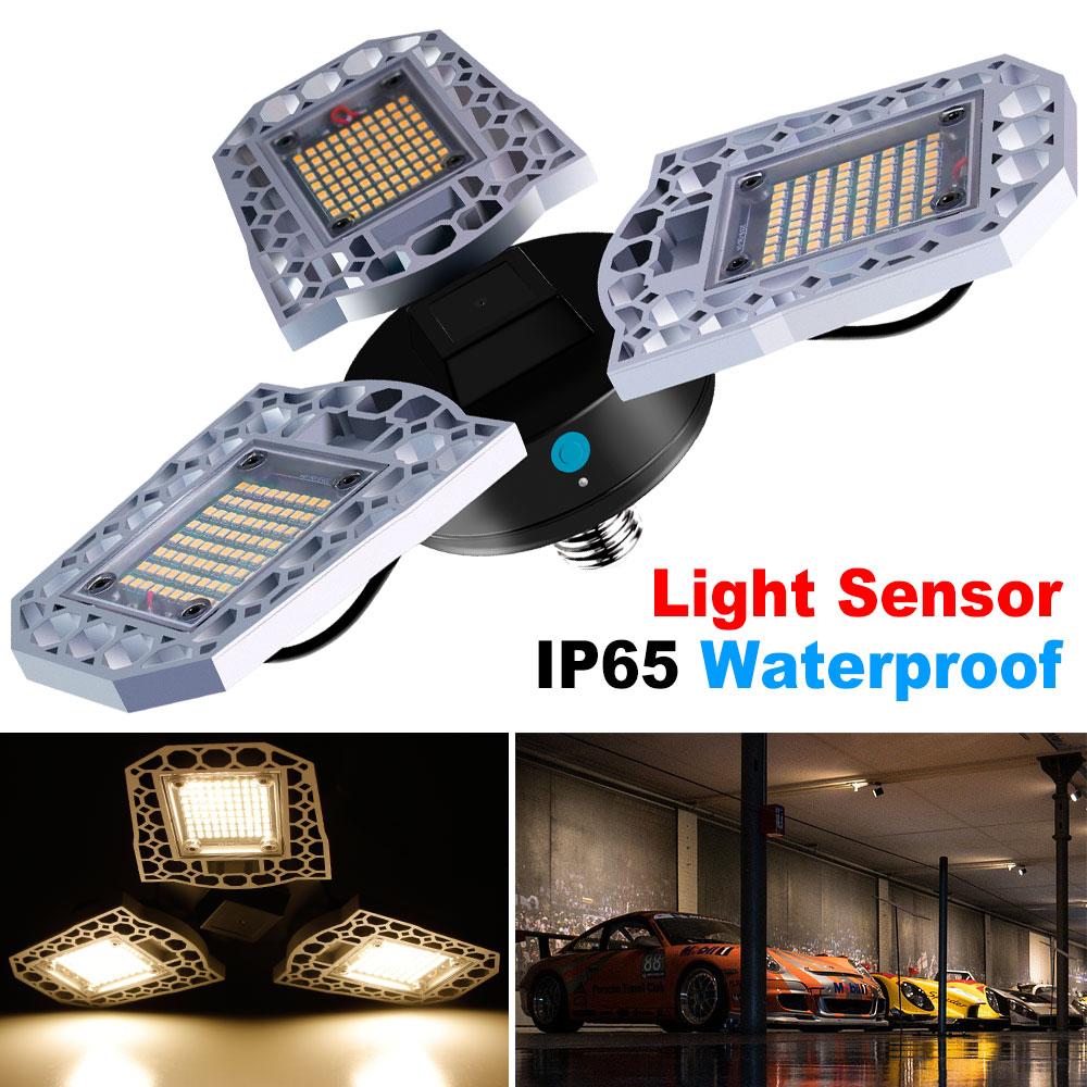 LED Light Bulb E27 LED Deformable Garage Light Waterproof AC100-277V 60W 80W 100W Bombilla Super Bright UFO Lamp For Warehouse