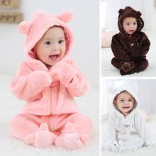 Baby Overalls For Baby Girls Costume 2019 Winter Autumn Newborn Clothes Baby Wool Rompers For Baby Boys Jumpsuit Infant Clothing(China)
