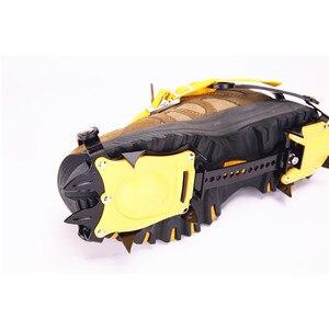 Image 3 - 10 zęby na zewnątrz wspinaczka przeciwpoślizgowe raki regulowany zimowy spacer lodu górskie rakiety śnieżne ze stali manganowej poślizgu pokrowce na buty