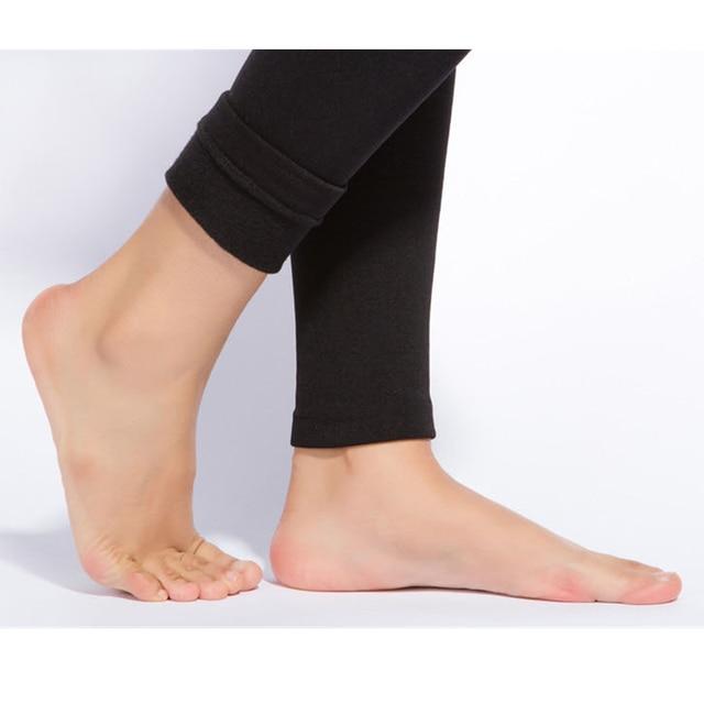Solid Color Warm Pants Women Casual Leggings Fall Winter Girls Pencil Leggings Female High Elastic Slim Length Leggings 6