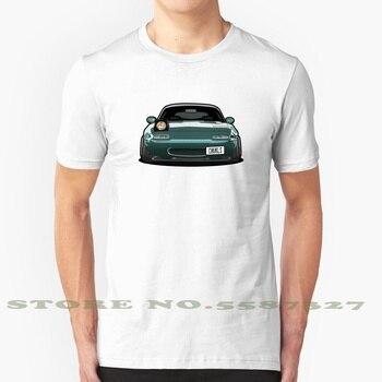 Miata ojo negro blanco Camiseta para los hombres las mujeres Mazda Miata Mx 5 Roadster delincuente cerró Stanced Hellaflush adhesivo Camber Jdm