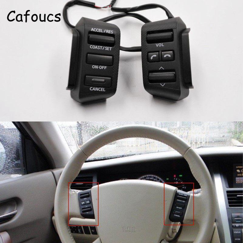 Cafoucs-bouton de commande | Pour Nissan Teana J31 2004 2005 2006 2007, bouton de commande de croisière, Volume Audio, Bluetooth
