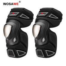 WOSAWE New Motorcycle Knee Pads Elbow Pads Set Off Road Comfortable Motorbike Rider Knee Protector Brace Elbow Guards Skateboard destroyer pro elbow xl purple skateboard pads