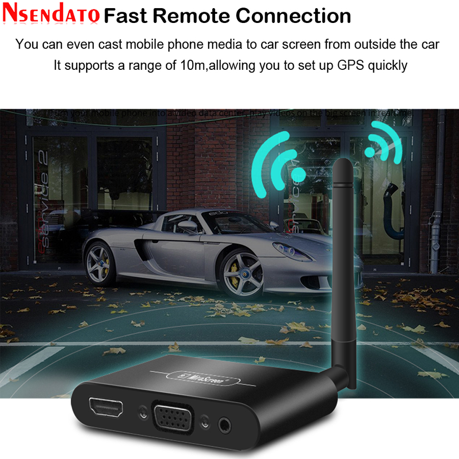 Mirascreen X6W Plus 5G 4K Miracast Wireless DLNA AirPlay HDMI VGA AV TV Stick Wifi Display Dongle Receiver for IOS Android Car