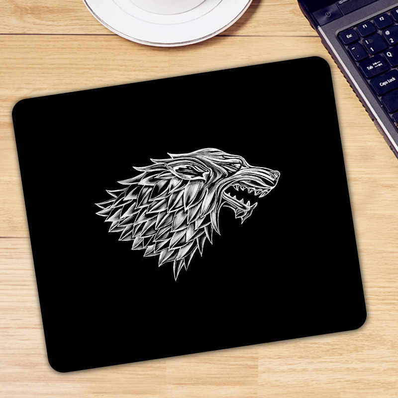 Stark Logo Mouse Pad Pad untuk Mouse Komputer Notebook Game Of Thrones Mousepad Keren Game Padmouse Gamer Keyboard Mouse Mat